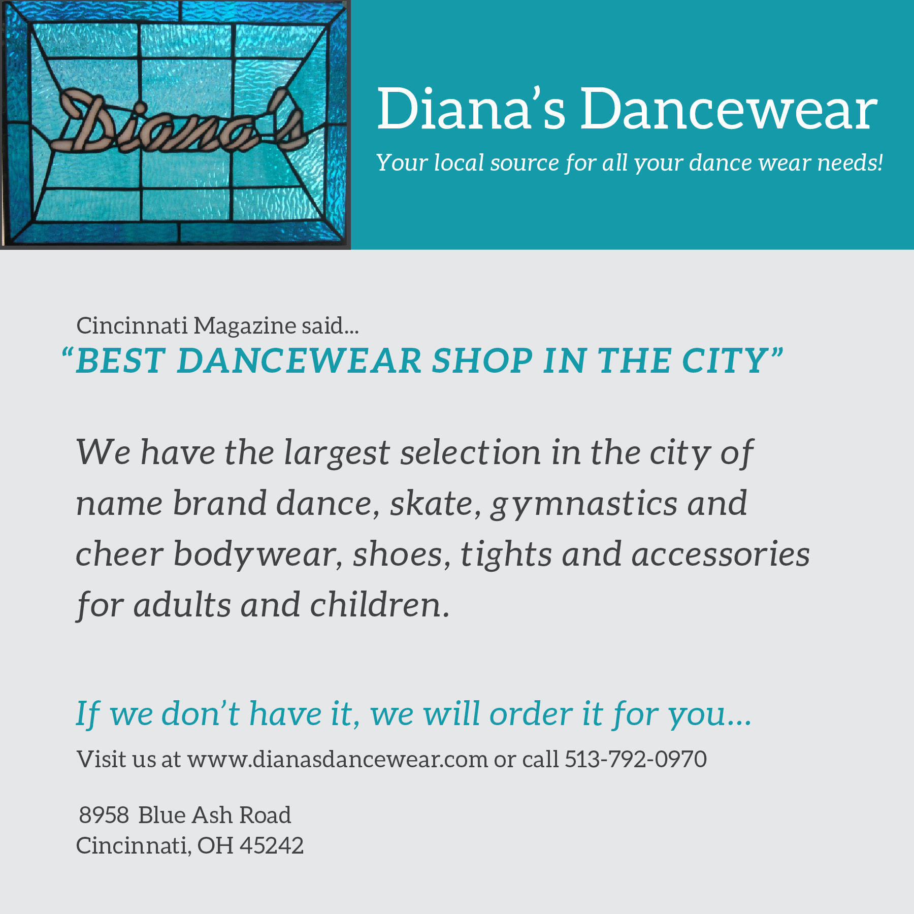 Cincy cost avers cincinnati coupons news weather contractors dianas dancewear ad aiddatafo Gallery
